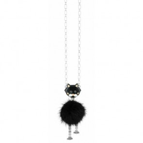 "Collier ""Chat va ?"", black 15-47124-102"