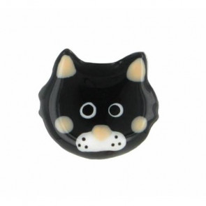 "Ohrstecker ""Chat va ?"", black 15-47977-102"