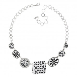 "Collier ""Double Six"", schwarz, H16-16141-102"