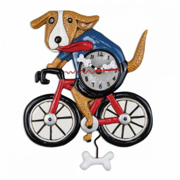 "Wanduhr ""Dog on a Bicycle"" P2025"