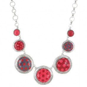 "Collier ""Acolyte"", red 15-13141-103"
