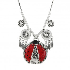 "Collier ""Ladybird"", red, 17-03105-103"