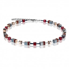 Geo Cube Collier, 4015/10-0300 rot #
