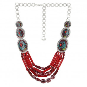 "Collier ""Ruby"", red, E18-06116-103"
