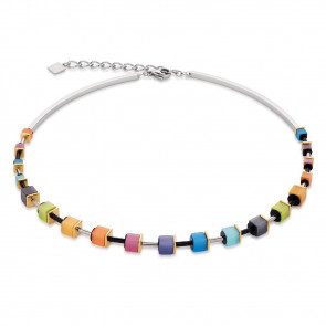 Geo Cube Collier, 4909/10-1520, Multicolor Rainbow #
