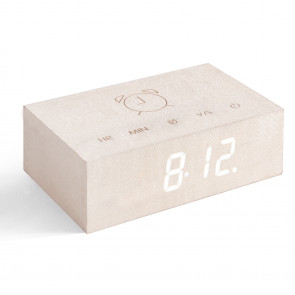 Flip Click Clock, White Maple, G003M13