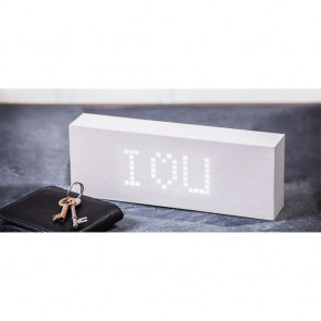 White Message Click Clock, GK03W13