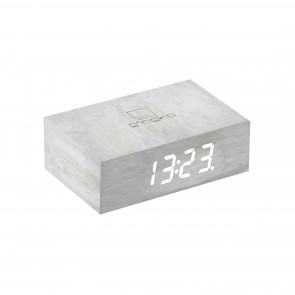Flip Click Clock, White Birch, G003W13
