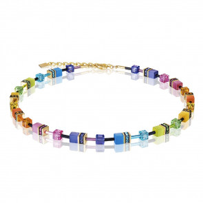 Geo Cube Collier, 2838/10-1573 Multicolor Rainbow-Gold 2