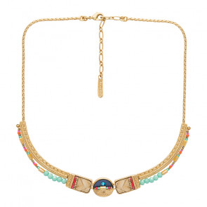 "Collier ""Terre De Feu"", gold/multi, E20-02104-20M"