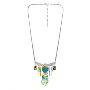 "Collier ""Panthère"", blue silver turquoise, E20-05112-10T"