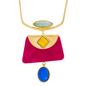 "Collier ""Arc-en-ciel"", gold/multi, E20-14133-20M"