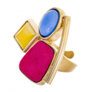 "Ring ""Arc-en-ciel"", gold/multi, E20-14423-20M"