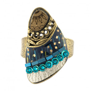 "Ring ""Galaxie"", blue, bronze, H20-19437-304"