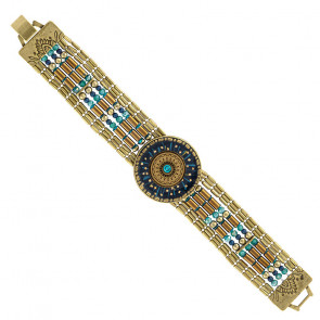 "Armband ""Galaxie"", blue, bronze, H20-19333-304"