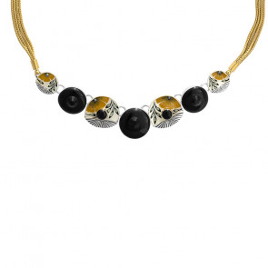 "Collier ""Ocre"", yellow, H20-06113-10Y"