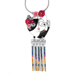 "Collier ""Chat Va Bien"", Multi, H20-22149-10M"
